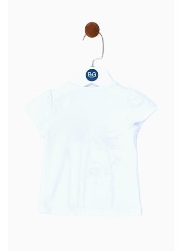 BG Baby Kız Bebek Beyaz T-Shirt 19SS0BG2534 Beyaz